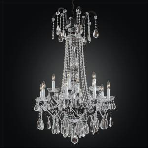 Wrought Iron Foyer Chandelier | Old World Iron 543H by GLOW Lighting