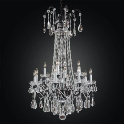 Wrought Iron Foyer Chandeliers – Beaded Chandelier | Old World Iron 543H
