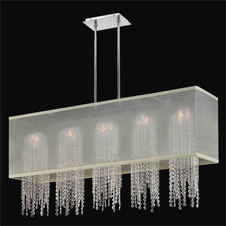 Crystal Strand Chandelier | Omni 627A by GLOW Lighting