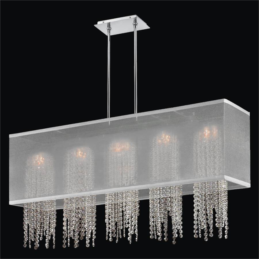 Crystal Strand Chandelier | Omni 627AM44SP-W-7C