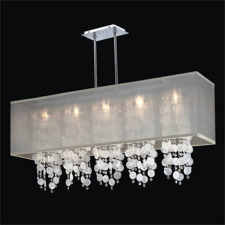 Rectangular Capiz Shell Chandelier | Omni 627KM44SP-T-3C