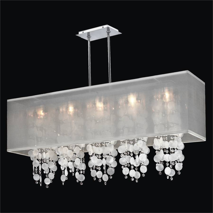 627 omni glow lighting rectangular shade chandelier capiz shell and crystal chandelier omni 627km44sp w 3c mozeypictures Image collections