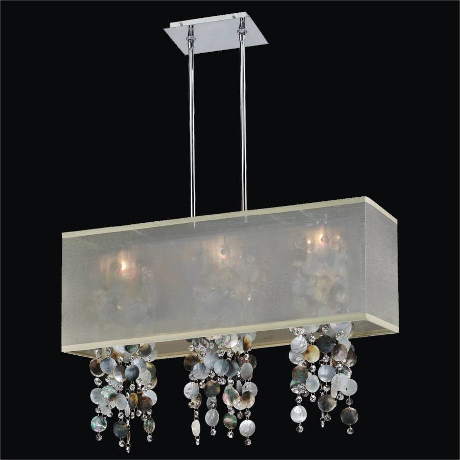 Mother of pearl chandelier rectangular shade chandelier glow mother of pearl chandelier rectangular shade chandelier omni 627p by glow lighting aloadofball Gallery