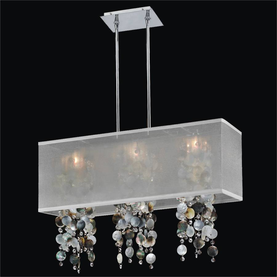 Mother Of Pearl Chandelier   Rectangular Shade Chandelier | Omni 627P By  GLOW Lighting ...