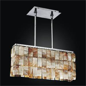 Oyster Shell Chandelier – Rectangular Chandelier | Paloma 623
