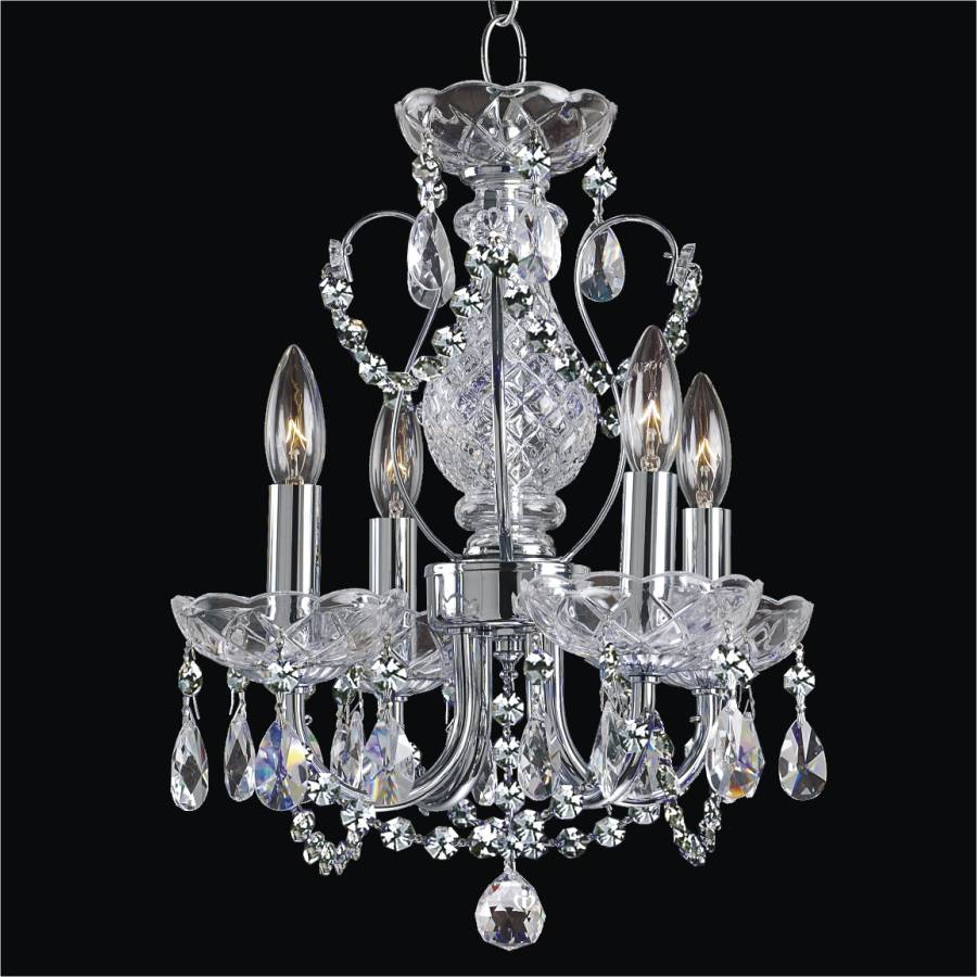 Small Crystal Chandelier | Petite Jewel 563 by GLOW Lighting