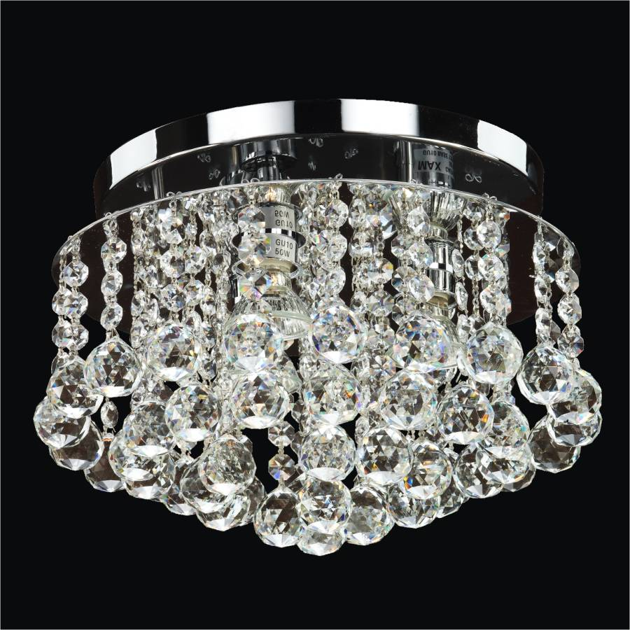 Modern Crystal Ceiling Light | Prestige 604 by GLOW Lighting