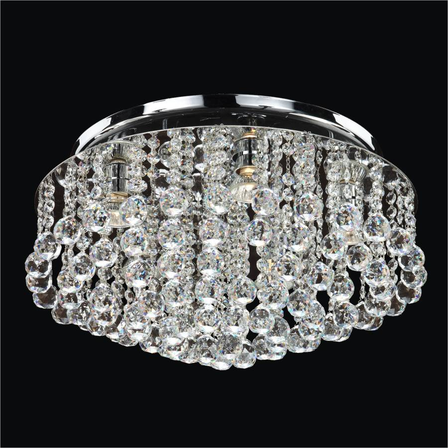 Crystal Flush Mount Light Flush Ceiling Lights