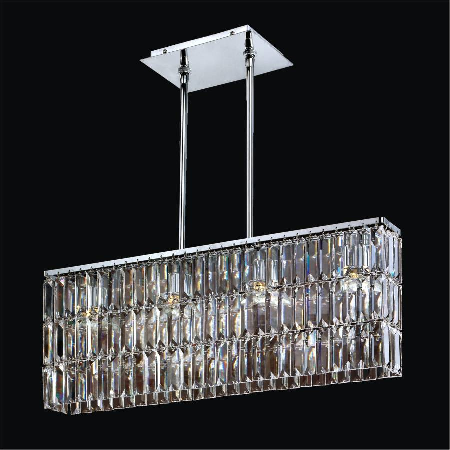 Rectangular Pendant Chandelier with Rectangular Shaped  : reflectionsglowcrystal chandelier flush mount600LM4LSP 3C from www.glowlighting.com size 900 x 900 jpeg 81kB