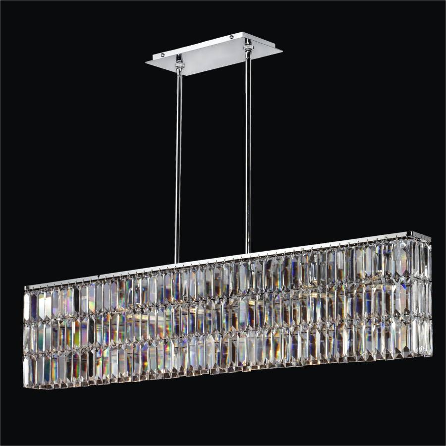 Rectangular Dining Chandelier | Reflections 600 by GLOW Lighting