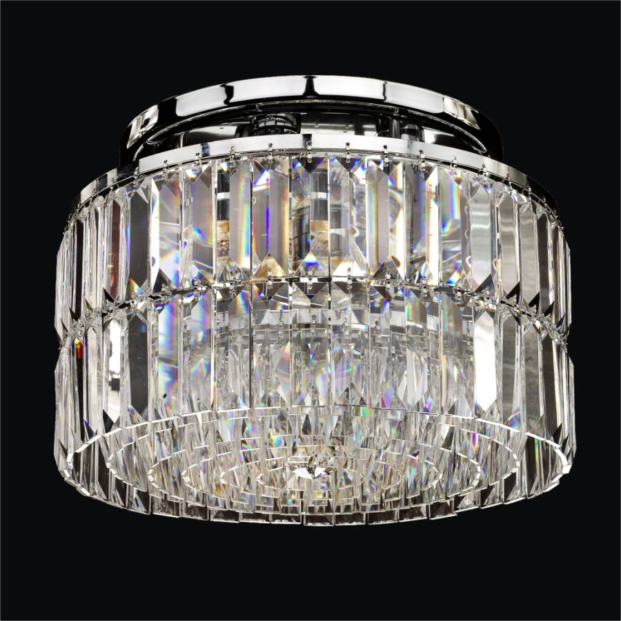 Modern Crystal Ceiling Light | Reflections 600 by GLOW Lighting