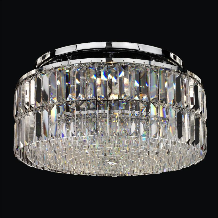 Modern Crystal Ceiling Light | Reflections 600LC4LSP-3C