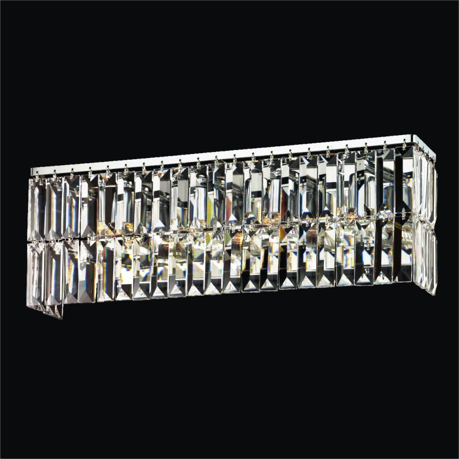 Crystal Bathroom Light | Reflections 600 by GLOW Lighting