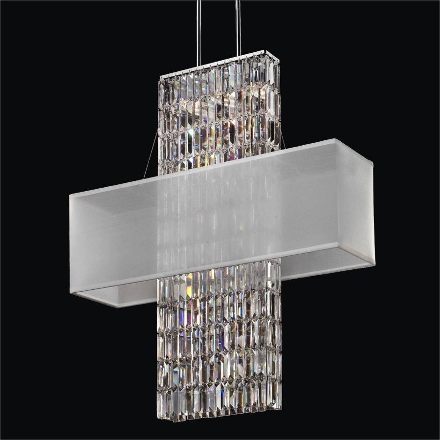 Rectangular Shade Chandelier Rectangular Crystal