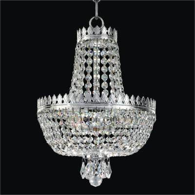 Small Crystal Empire Basket Pendant Chandelier | Roman Empire 548