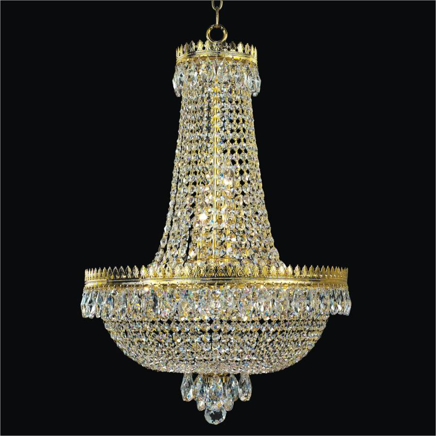Empire Crystal Basket Chandelier | Roman Empire 548 by GLOW Lighting