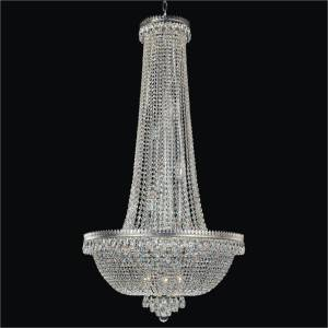Crystal Foyer Chandelier | Roman Empire 548A by GLOW Lighting