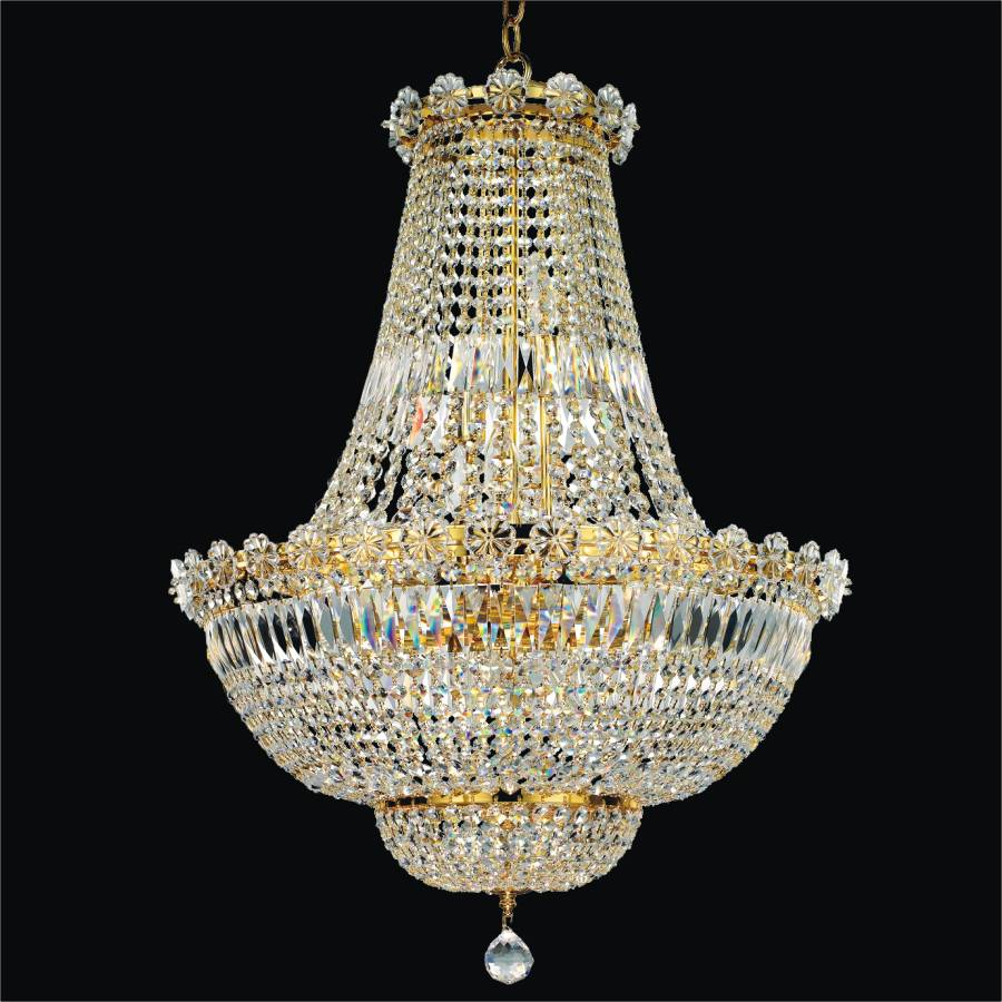 French Empire Crystal Chandelier | Rosette Dreams 538 by GLOW Lighting