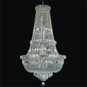 Rosette dreams empire crystal chandelier by GLOW Lighting