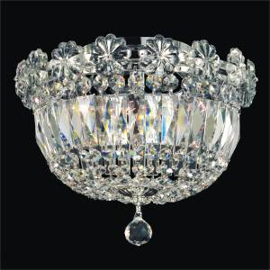 Flush Mount Empire Chandelier | Rosette Dreams 538 by GLOW Lighting
