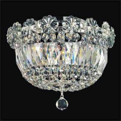 Crystal Empire Basket Embellished Flush Mount | Rosette Dreams 538