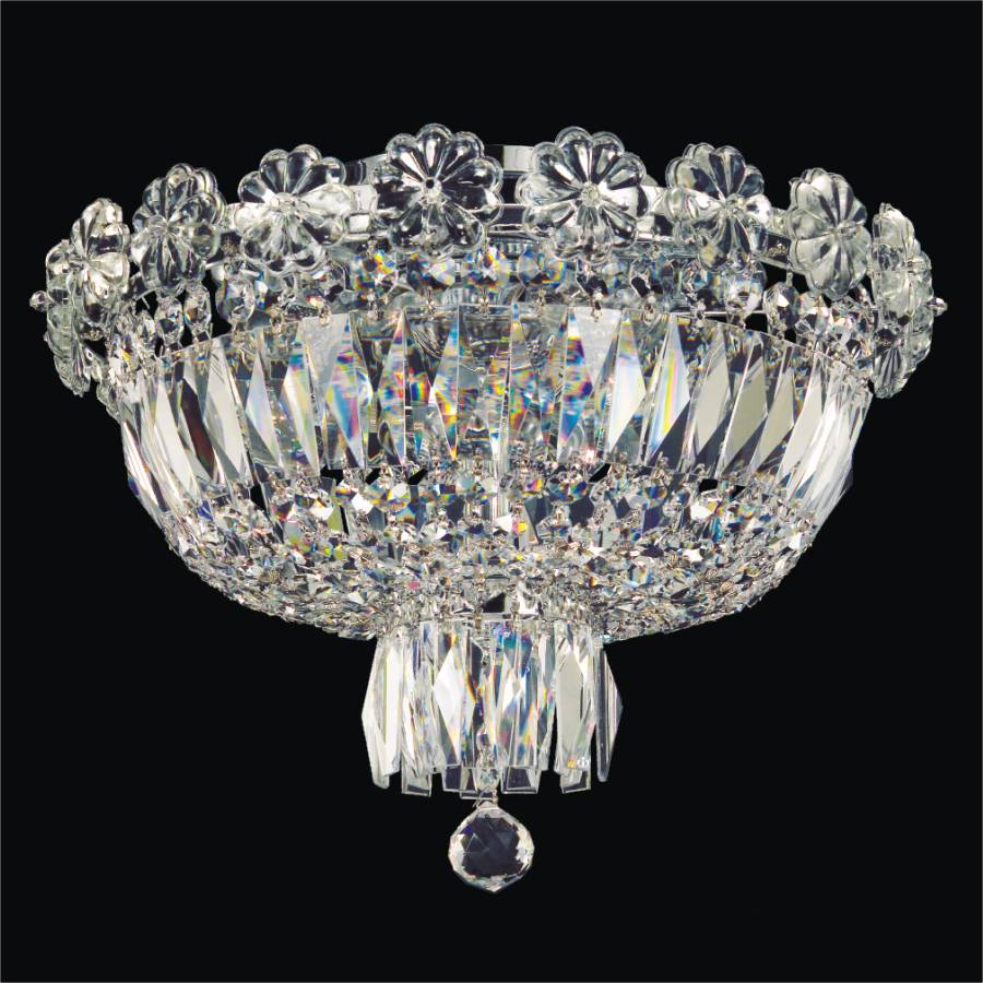 Flush Crystal Ceiling Light | Rosette Dreams 539 by GLOW Lighting