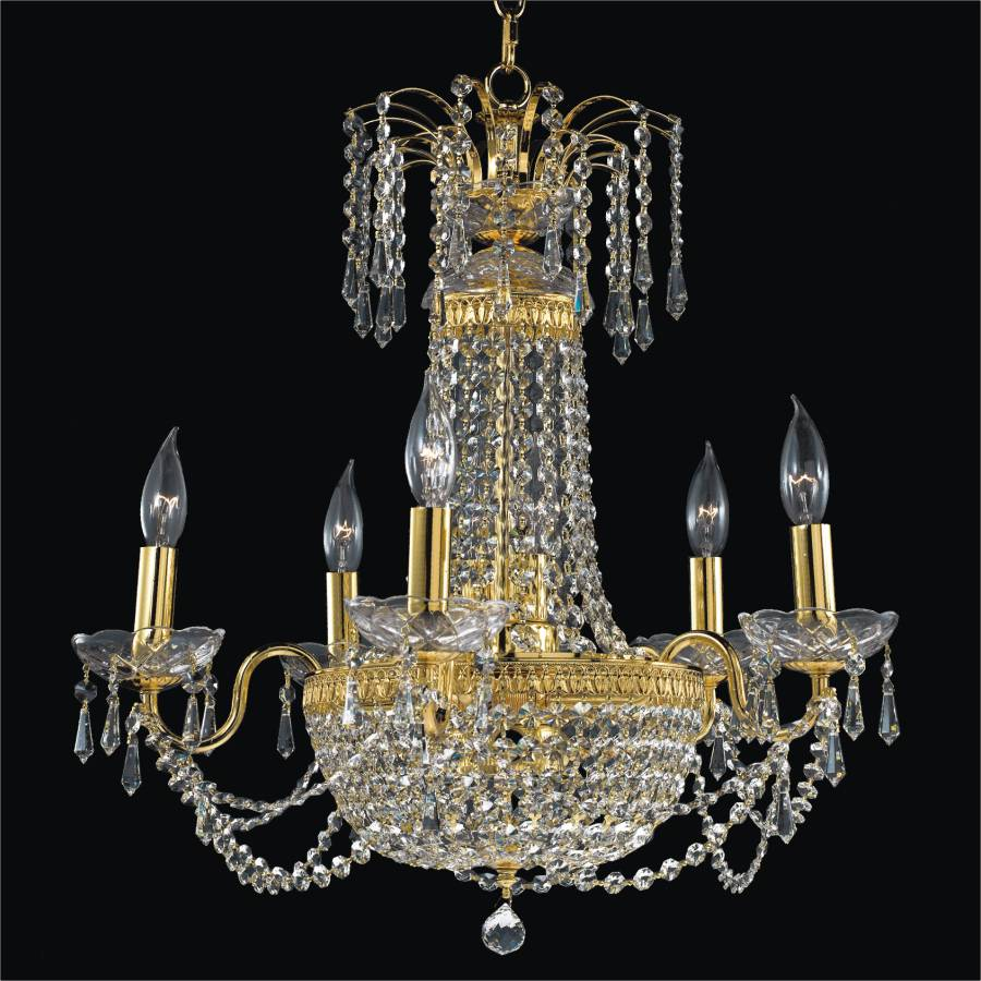 Empire Basket Crystal Chandelier | Royal Empire 533 by GLOW Lighting