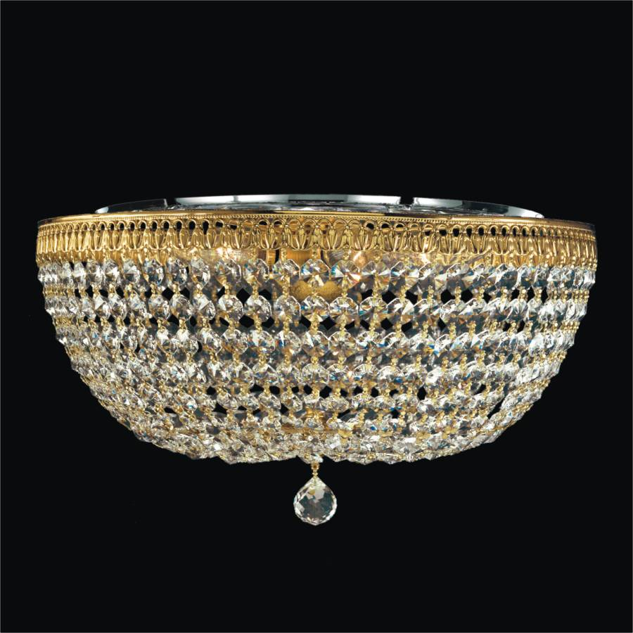Flush Crystal Ceiling Light   Royal Empire 533 by GLOW Lighting