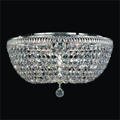 Crystal Empire Basket Style Flush Mount | Royal Empire 533