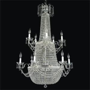 Empire Basket Crystal Foyer Chandelier | Royal Empire 533 by GLOW Lighting