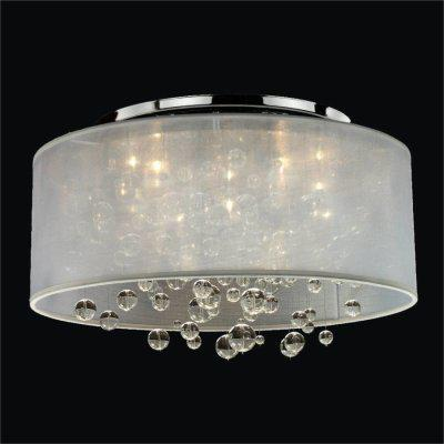 Drum Shaded Crystal Bead Flush Mount | Silhouette 590