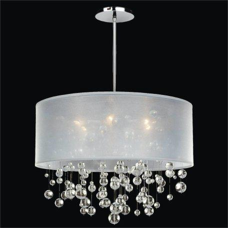 Drum Shaded Crystal Bead Pendant Chandelier by silhouette-590