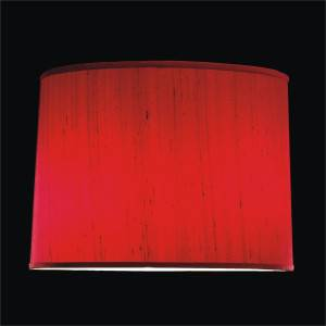 Small tapered lamp silk shade by GLOW Lighting