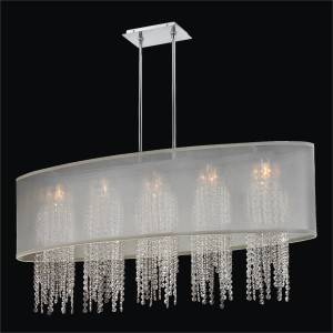 Oval Crystal Chandelier – Oval Shade Chandelier | Soho 626A