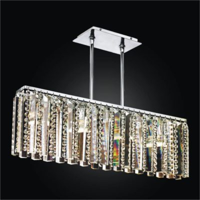 Rectangular chandelier dining room page 3 of 3 glow lighting linear glass chandelier crystal chandelier sonesta 625 aloadofball Image collections