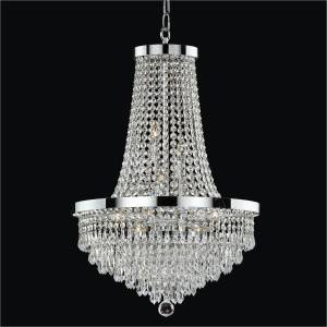 Teardrop Crystal Chandelier | Spellbound 605 by GLOW Lighting
