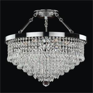 Semi Flush Crystal Ceiling Lights | Spellbound 605 by GLOW Lighting