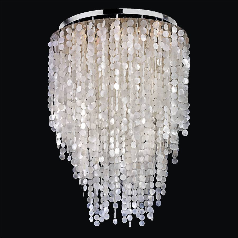 Capiz Shell Flush Mount Ceiling Light | Summer Breeze 594 by GLOW Lighting