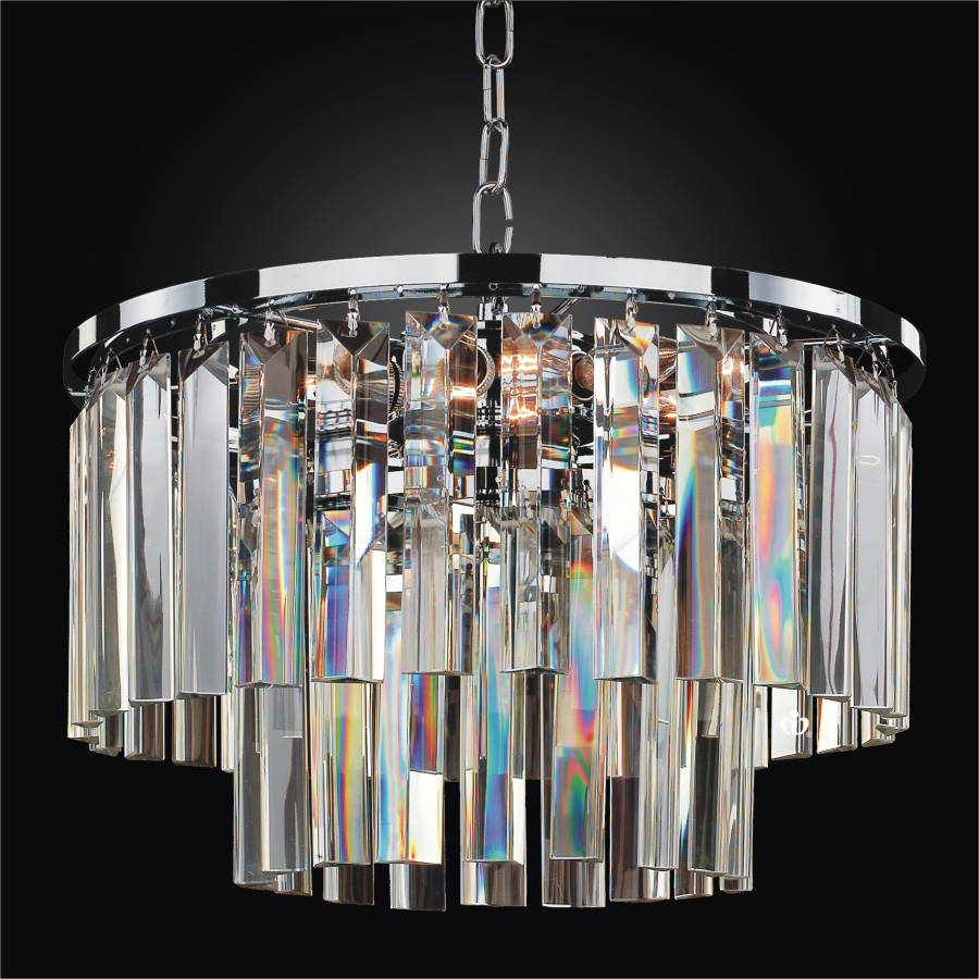 Glass Pendant Chandelier | Timeless 614TD15SP