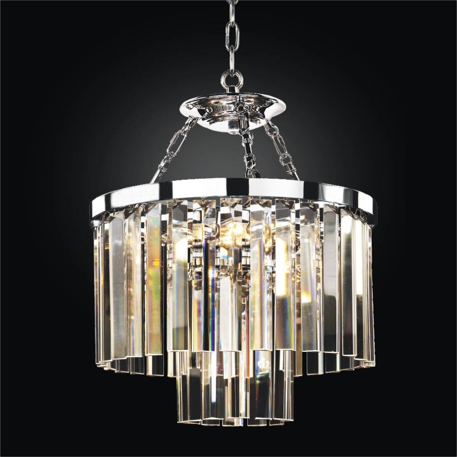 Modern Glass Pendant Chandelier to Semi Flush Mount Timeless 614