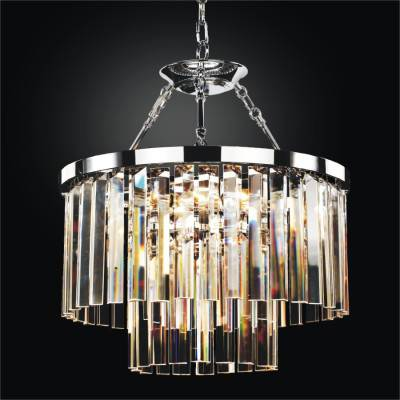 Modern Glass Pendant Chandelier to Semi Flush Mount | Timeless 614