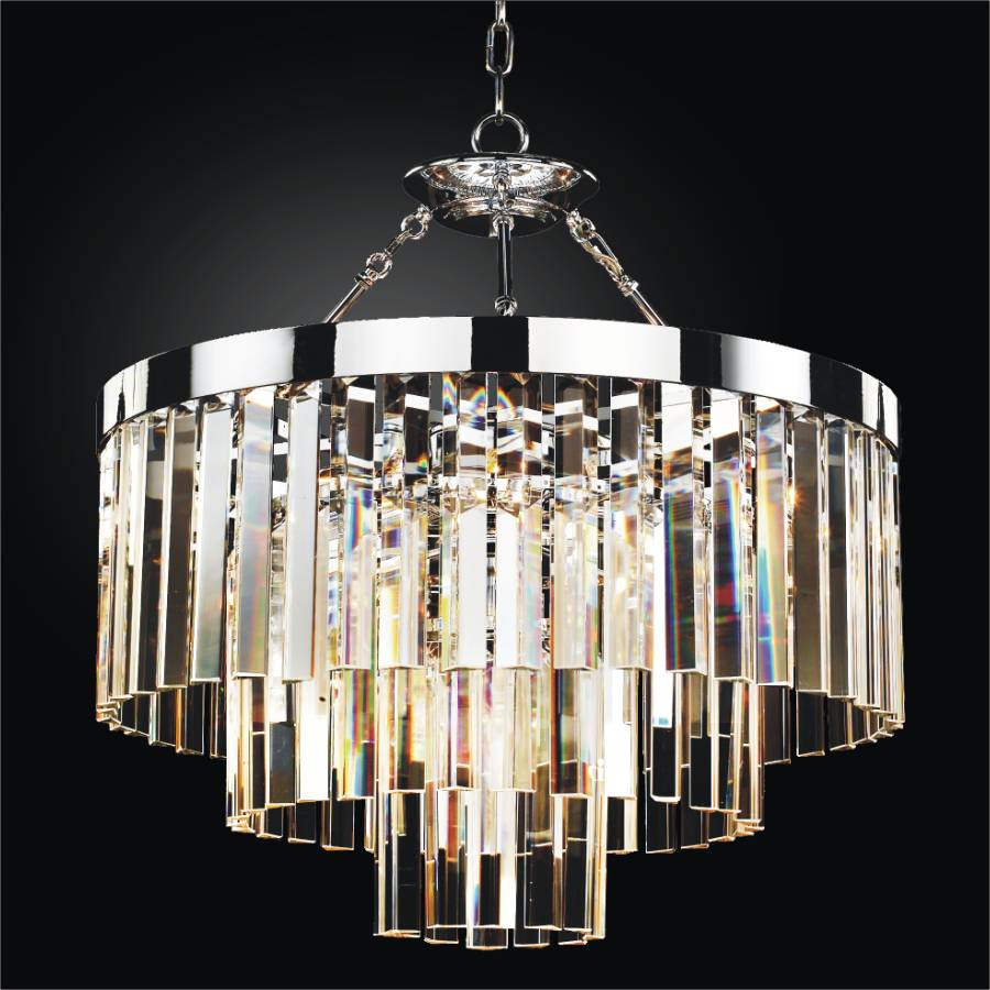 Clear Glass Chandelier | Timeless 614 by GLOW Lighting