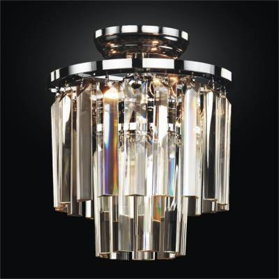 Tri Cut Glass Crystal Flush Mounts | Timeless 614