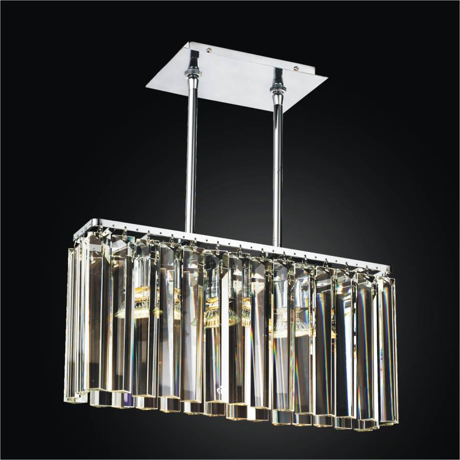 Rectangular Glass Chandelier | Transitions 621 by GLOW Lighting