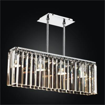 Glass Rectangular Pendant Chandelier | Transitions 621