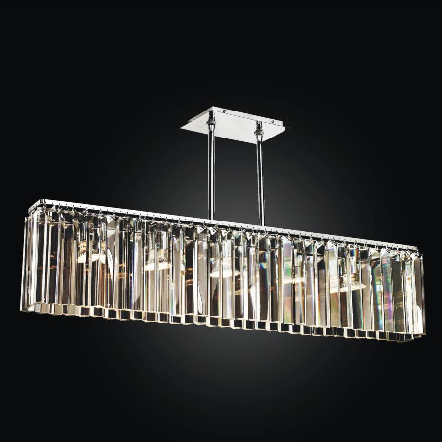 Rectangular Glass Chandelier Transitions 621 Glow