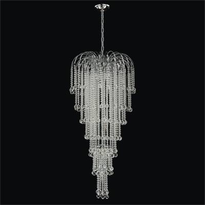 Crystal Foyer Chandelier with Cascading Beads | Trevi 610