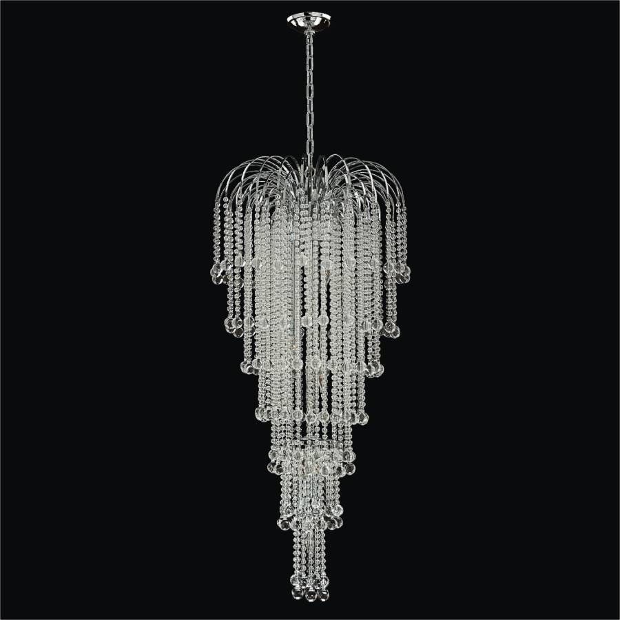 Long Beaded Chandelier | Trevi 610 by GLOW Lighting