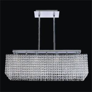 Trillium crystal chandelier flush mountRectangular Crystal Chandelier | Trillium 569 by GLOW Lighting