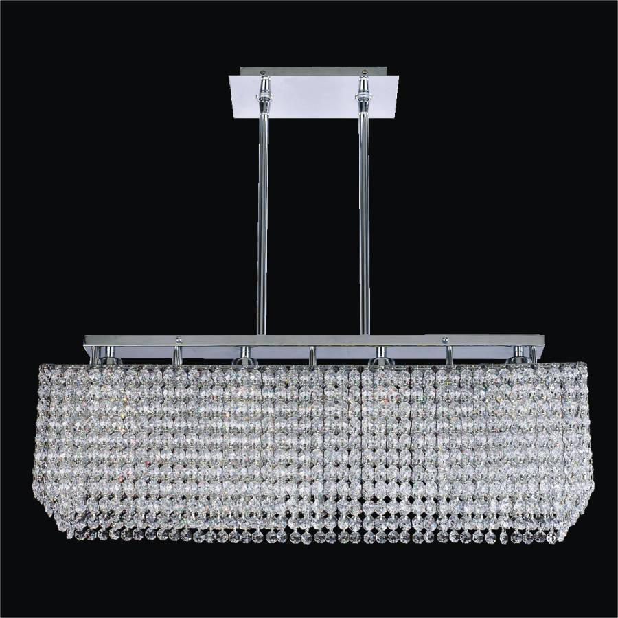 Rectangular Crystal Chandelier | Trillium 569 by GLOW Lighting